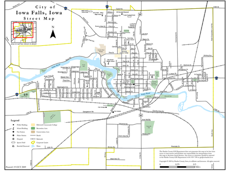 City Maps City of Iowa Falls